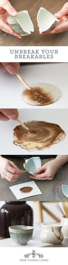 Learn our 3 EASY steps to fixing your broken ceramics! DIY