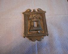 Vintage Metal Liberty Bell Single Light Switchplate Cover Americana
