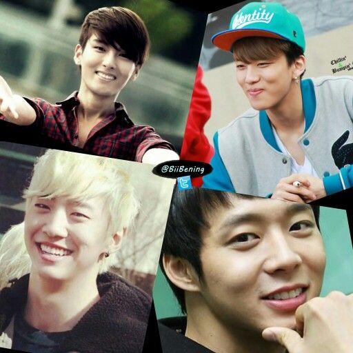#GummySmile Ryewook Suju, Youngjae B.A.P, Yongguk B.A.P, Yoochun JYJ