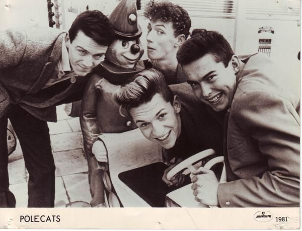 UK rockabilly band the Polecats in 1981