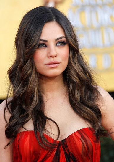 Dark brown hair with subtle highlights...someday I will ...