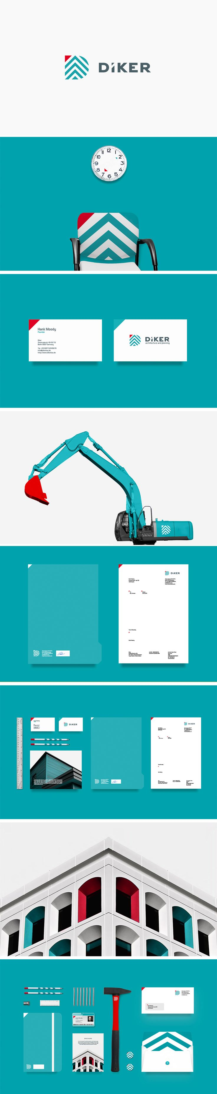 Brand Identity for Diker Bau, a Group of Construction companies based in Berlin, Germany