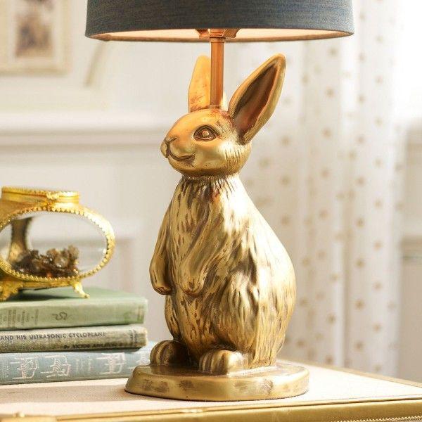 Gilded Rabbit Lamp