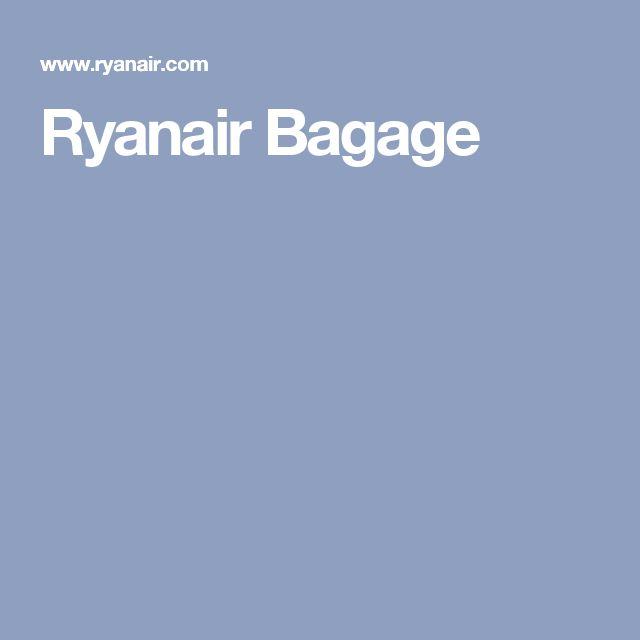 Ryanair Bagage