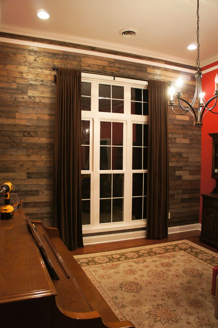 Wood Accent Wall Palletless Pallet Gray Barnwood Rustic