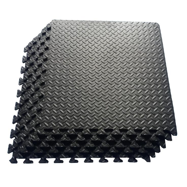 Ottomanson MultiPurpose Black 24 in. x 24 in. EVA Foam