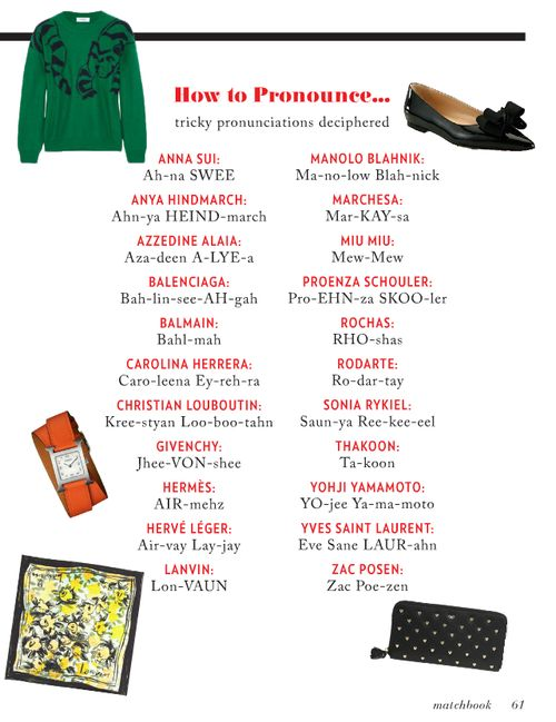 How to pronounce designer names: Clothing Hors, Dreams Closet, Pretty Pink, Tricki Fashion, Fashion Design, Fashion Branding, Fashion Pronunci, Fashion Night, Pink Tulip