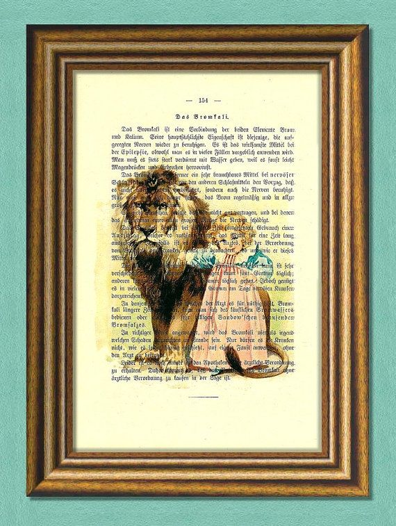 BEAUTY and the BEAST   Dictionary art by littlevintagechest, $7.99