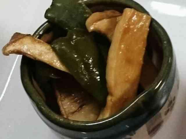 焼きピーマンとエリンギの味噌和えの画像