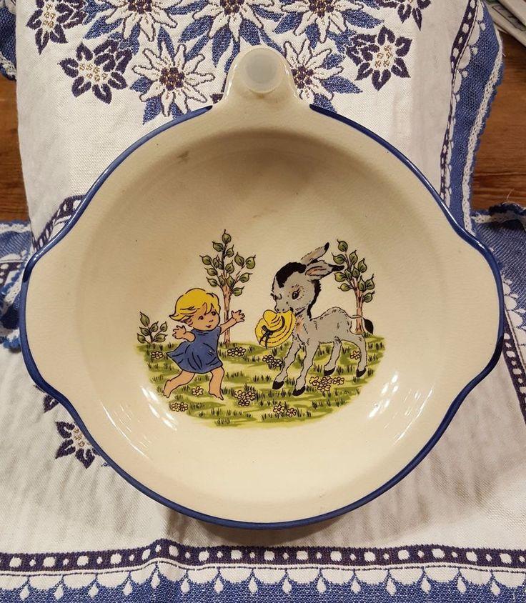 Antique Zeller Keramik Baby Dish #ZellerKeramik