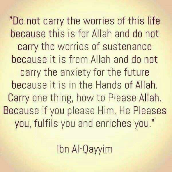 Please Allah... coz He will please, fulfil and enrich those who please Him.