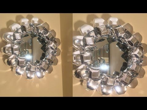 Diy Metallic Rose Mirror Home Decor That Is Simple Quick And Inexpensive Youtube Dollar Tree Diy Crafts Mirror Frame Diy Mirror Crafts