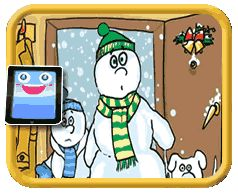 Snow Family - Find the Differences Game for Kids