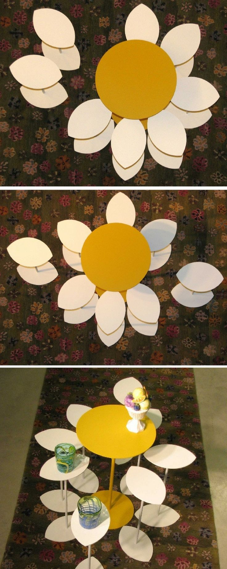 Coffee Table M'ama non m'ama. Multifunctional table, unconventional design table: Daisy Loves me Loves me not.