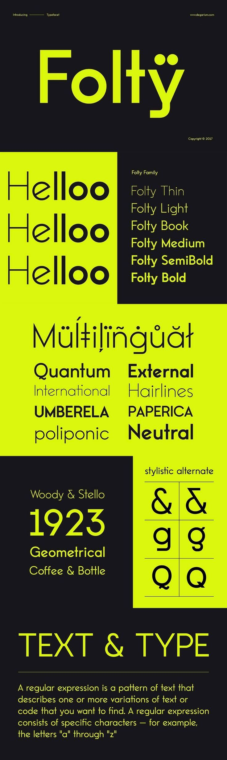 Folty - Folty is a geometric sans serif design that was inspired by modern graphic design and contemporary ...                        #font #typeface #typegang #typespire #typematters #type #fontdesign #typography #graphicdesign #typographyinspire #handmadefont #youworkforthem #ad #sansserif