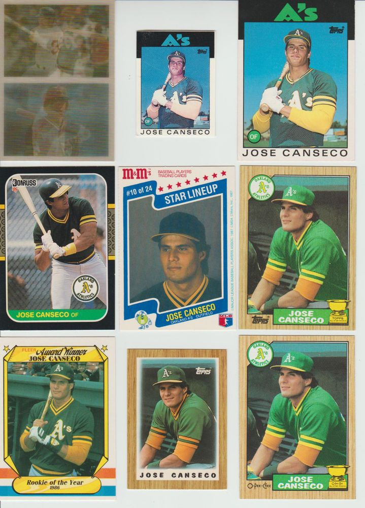 Huge 100 + different JOSE CANSECO cards lot 3 RC 1986 - 2002 Athletics Red Sox #Athletics #OaklandAthletics