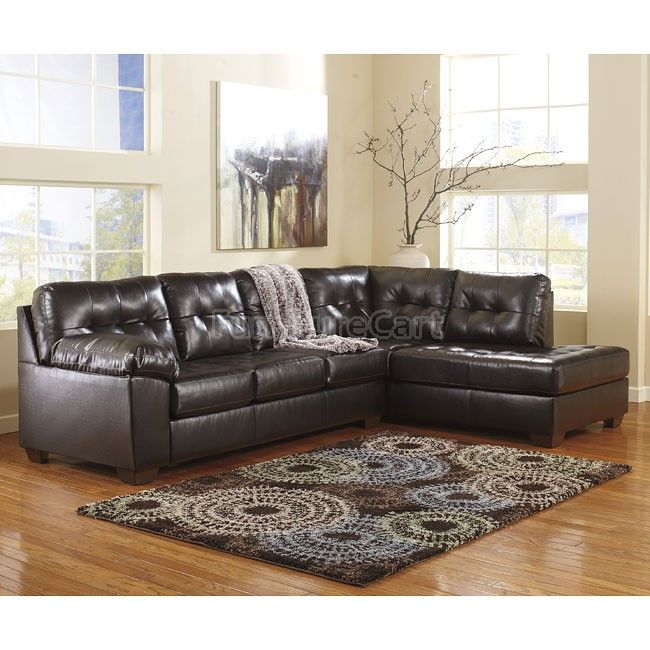 Alliston DuraBlend Chocolate Sectional W/ Right Chaise Millennium | Furniture Cart  sc 1 st  Pinterest : capote durablend sectional - Sectionals, Sofas & Couches