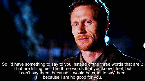 And then he tried to distance himself from Cristina because he loved her so much he didn't want to hurt her?