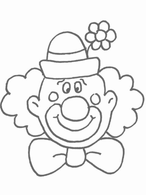 Kleurplaat: clown