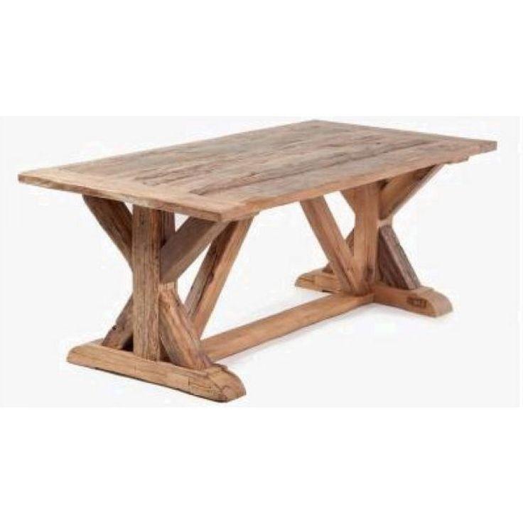 Ruokapöytä kierrätyspuusta, omilla mitoilla tammesta ja havupuusta.