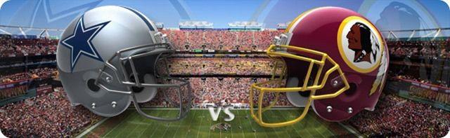 Dallas Cowboys vs. Washington Redskins - Dallas Cowboys 2013-2014 schedule - 2013-2014 Dallas Cowboys - NFL helmets - Button - Dallas Cowboy...