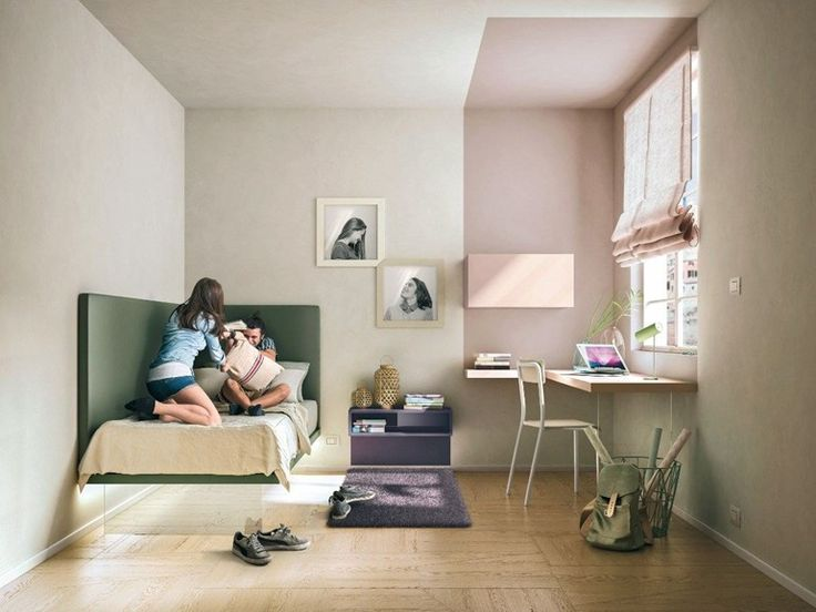 Single bed for kids' bedroom GIZMO by Lago design Daniele Lago