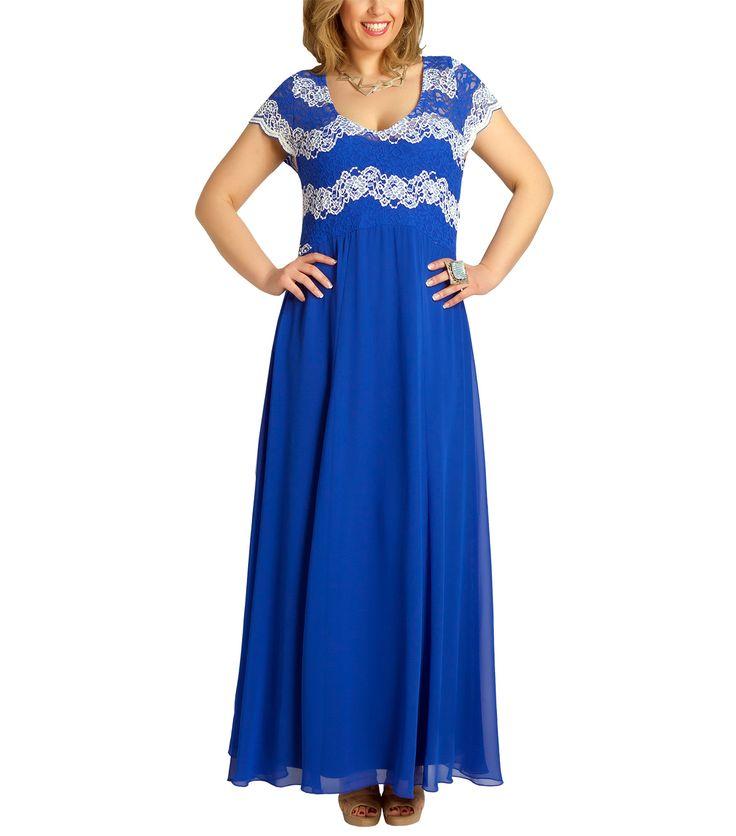 Εντυπωσιακό μπλε φόρεμα (μπροστά)