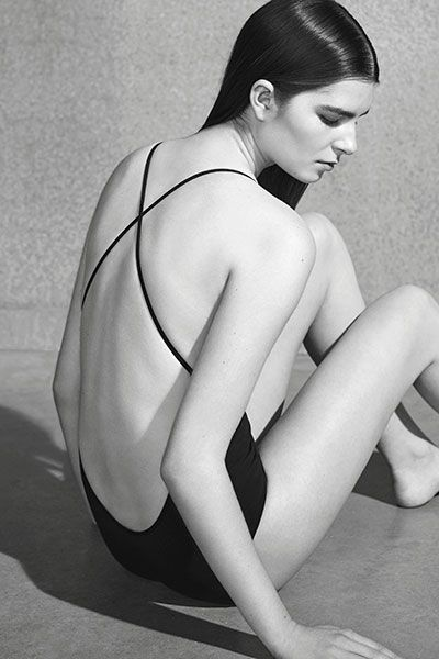 COS | Swimwear black and white photography tumblr