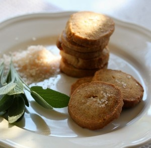 Parmesan Sage Shortbread...perfect for an antipasto platter