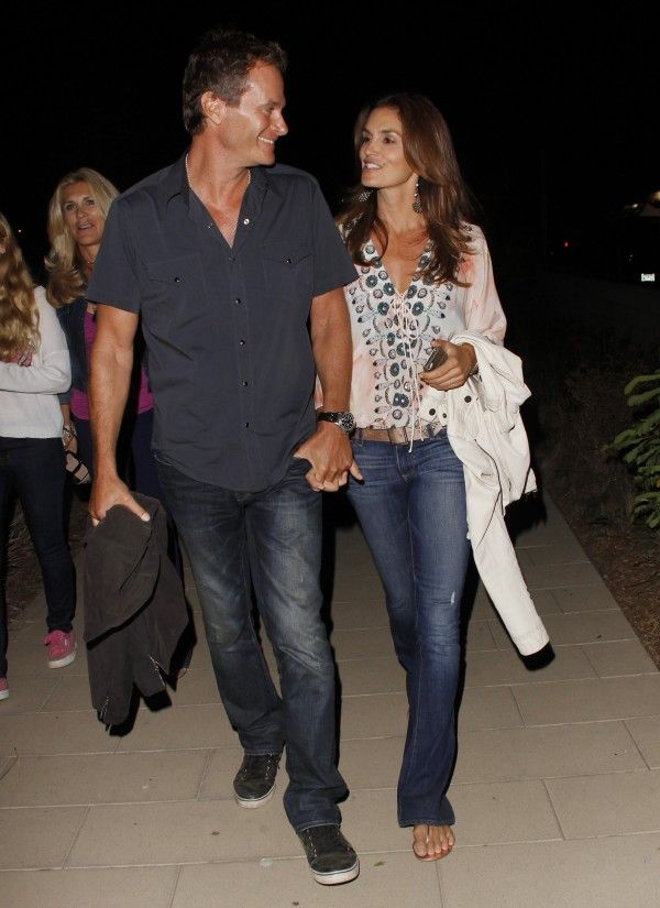 Paige Lou Lou jeans with great kaftan. Go Cindy. Celebrities in Designer Jeans from Denim Blog
