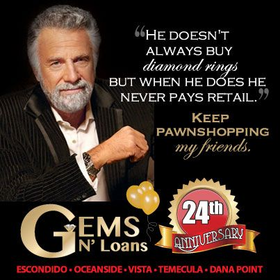 He doesn't always buy #diamond #rings but when he does he never pays #retail. Keep #pawnshopping my friends. #TheMostInterestingMan