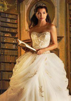 Disney Fairy Tale Weddings by Alfred Angelo 254 Belle Wedding Dress - The Knot