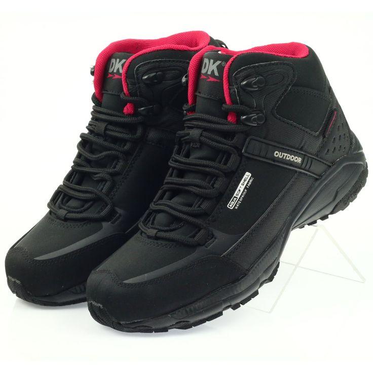 Buty Trekkingowe Softshell Dk 1751 Czarne Czerwone Hiking Boots Boots Sketchers Sneakers