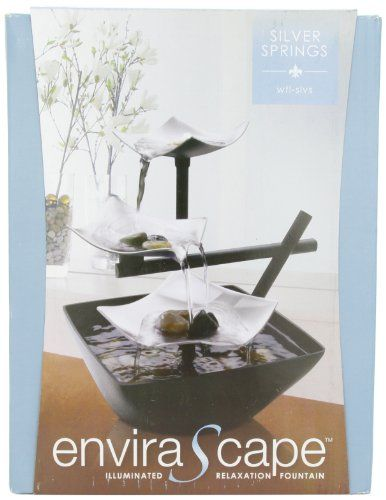 HoMedics WFL SLVS Envirascape Silver Springs Illuminated Relaxation Fountain  With Natural Stones Homedics $19.97 Http