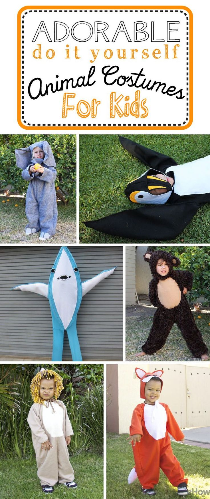 Animals and kids together? Our hearts just exploded! How cute are these baby and toddler animal costumes? Halloween should always be this cute! Get the inspiration and the DIYs for each of these animal costumes and more! http://www.ehow.com/how_5076862_make-animal-costumes-kids.html?utm_source=pinterest.com&utm_medium=referral&utm_content=curated&utm_campaign=fanpage