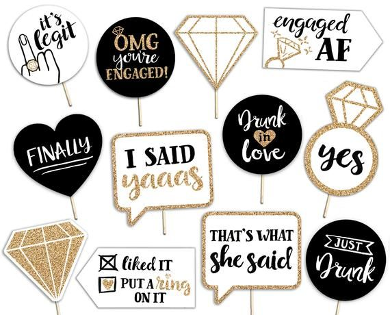 bachelorette party sign bridal shower photo prop engaged she said yes Miss to Mrs Banner
