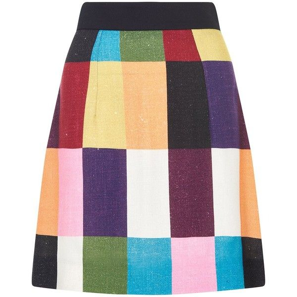 PATCHWORK A LINE SKIRT – House of Holland ($335) ❤ liked on Polyvore featuring skirts, knee length a line skirt, purple a line skirt, house of holland, patchwork skirts and a-line skirts