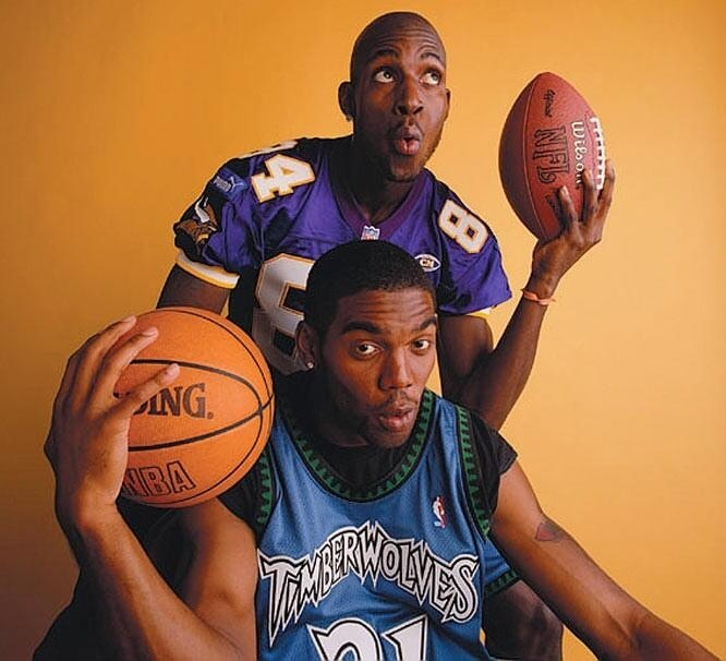 Kevin Garnett and Randy Moss back in their respective heydays in Minny.
