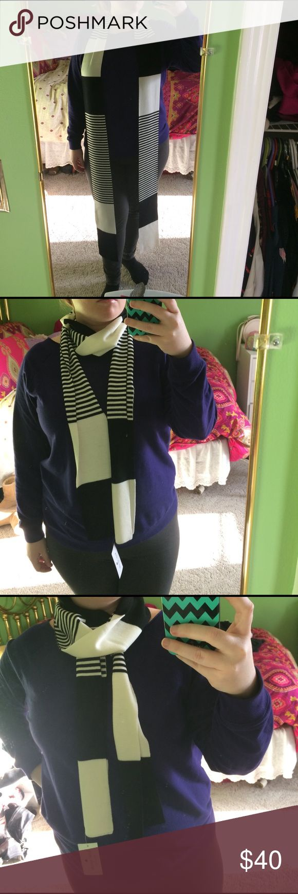 Kate spade black and white scarf Kate spade black and white scarf. Perfect for spring!!! Lightweight kate spade Accessories Scarves & Wraps