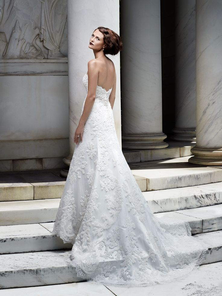 64 best A-line Wedding Gowns images on Pinterest | Short wedding ...