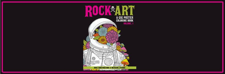 We spend lots of time looking at sites like these wishing we had the talent to create rock art posters. While we'll never have the screen printing and design talent of some of the best designers, we can certainly pass the time and pretend with some crayons.  This Rock Art: A Gig Poster Colori