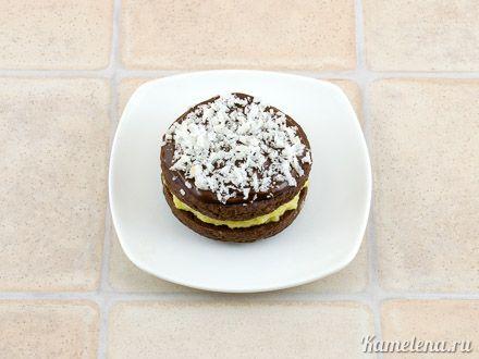 Шоколадное печенье-сэндвич с кокосовой начинкой — 13 шаг