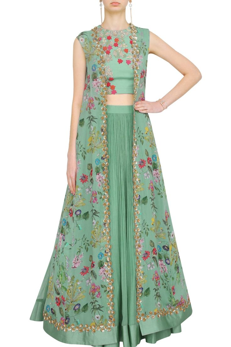 Sea-green lehenga set