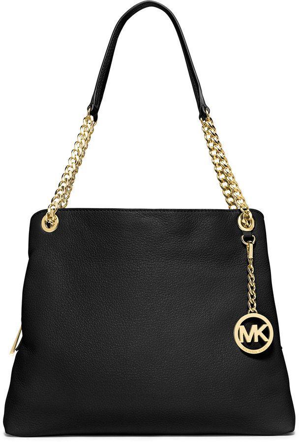 MICHAEL Michael Kors Jet Set Large Chain Shoulder Tote Bag, Black