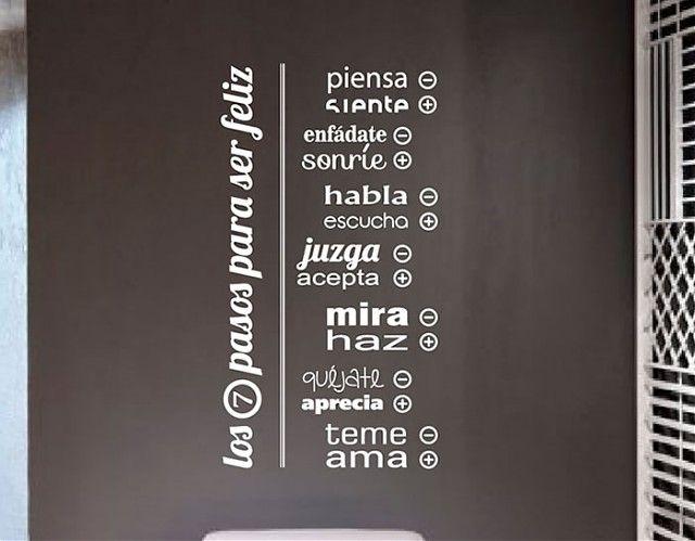 vinilos de pared sobre frases y citas curiosas los siete paso para ser