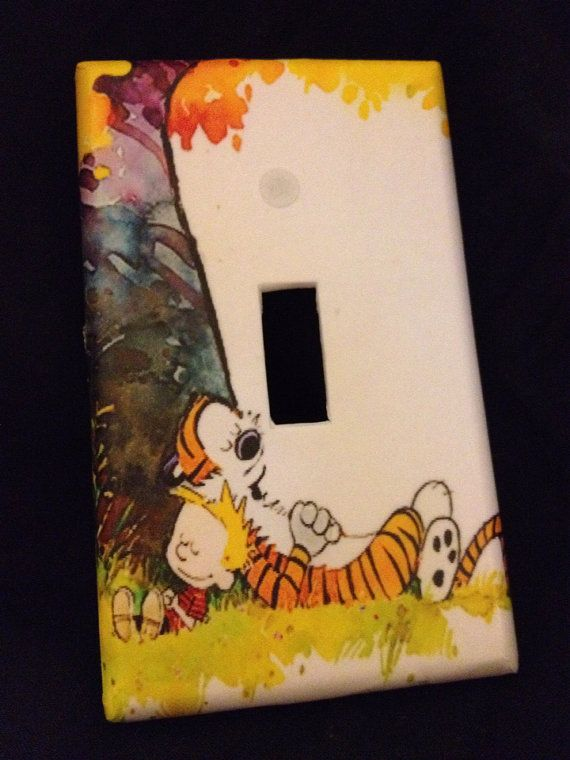 Calvin and Hobbes light switch cover