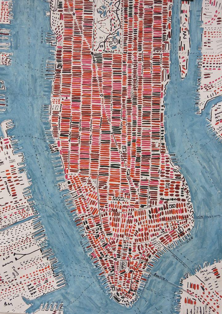 Chicago Map With Neighborhood Names%0A http   www barbaramacfarlane com oilonpaper   Manhattan MapMapsMap