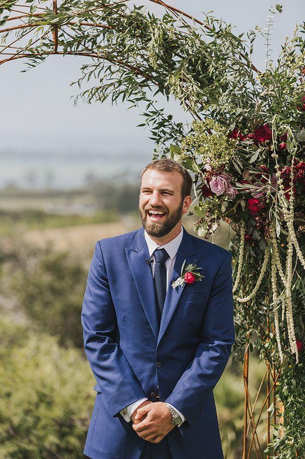 KATE + NICK // #groom #wedding #ceremony #reception #navy #blue #suit #tie…