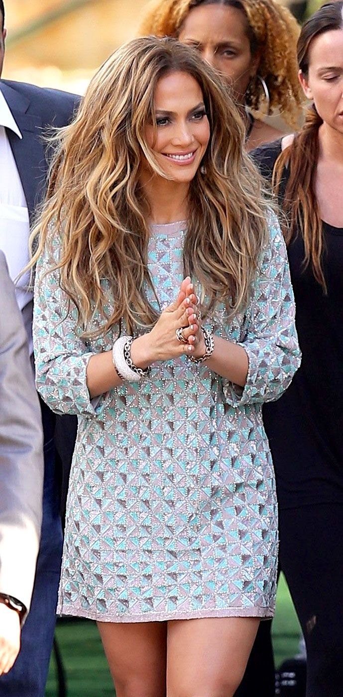 We Luh U Forever Jennifer Lopez headed into the American Idol studios in Hollywood April 30.