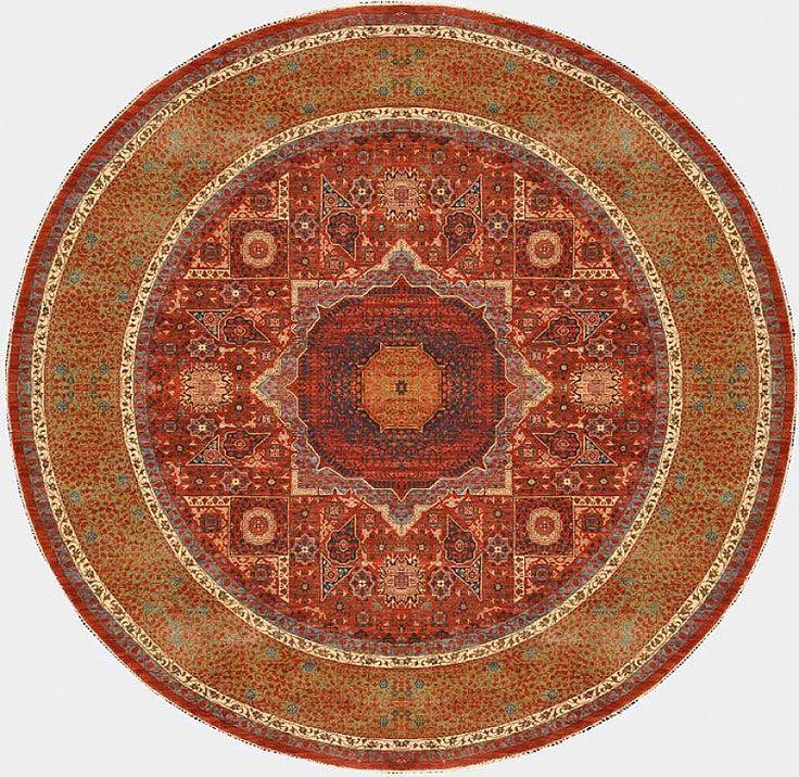 Круглые шерстяные ковры с египетским орнаментом Мамлюк - магазин ковров ANSY Carpet Company